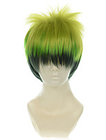 Blue Exorcist King of Elemental Earth Amaimon Gradient Green Halloween Wigs Synthetic Wigs Costume Wigs