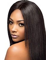 От 8 до 22 дюймов бразильские человеческие волосы яки прямые парики 4,5 глубоководной части бесклеевой фронта шнурка для чернокожих женщин