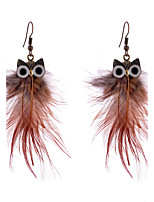 Women's Drop Earrings Jewelry Costume Jewelry Feather Alloy Jewelry For Wedding Casual