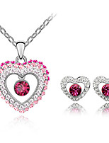 Thousands of colors  Jewelry Necklaces / Earrings Jewelry set Crystal  1set Women -9-1-1-2262-026