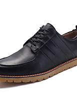 Men's Sneakers Spring / Fall Comfort PU Casual Flat Heel Lace-up Black / Blue / Brown Sneaker