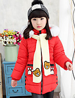 Girl Casual/Daily Print Down & Cotton Padded,Polyester Winter Long Sleeve