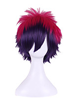 No Game No Life Japanese Anime Cosplay Wigs Purple mixed Navy Blue Color Wave Short Length Costume Wig