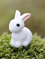 E Micro-Community Moss Micro-Landscape Decorative Decoration Station Of The Small White Rabbit Decoration DIY Materials