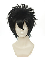 Gintama Hijikata Toushirou Black Multipurpose Upturned Short Halloween Wigs Synthetic Wigs Costume Wigs