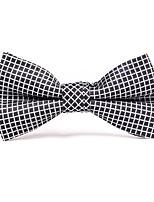 Для мужчин Винтаж / Для вечеринки / Для офиса / На каждый день Бабочка,Смесь хлопка / Полиэстер Шахматка,Черный / Белый / ЖелтыйВесна /