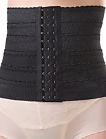 Women's Underbust Corset Nightwear Sexy Solid-Medium Nylon Black / Skin
