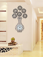 Modern/Contemporary Houses Wall ClockOthers Acrylic / Glass / Metal 57*100cm Indoor Clock