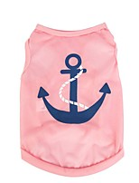 Dog Shirt / T-Shirt / Vest Blue / Pink / Rose Dog Clothes Winter / Summer / Spring/Fall Sailor Cute / Sports / Fashion /
