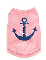 Chat / Chien T-shirt / Gilet Bleu / Incanardin / Rouge Rose Vêtements pour Chien Hiver / Eté / Printemps/Automne MarinMignon / Sportif /