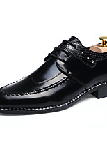 Men's Oxfords Spring Fall Winter Others Leather Office & Career Casual Lace-up Black Burgundy Others