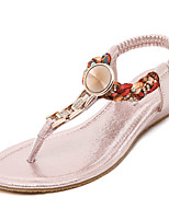 Women's Sandals Spring / Summer / Fall Mary Jane Microfibre / Leatherette Dress / Casual Wedge HeelSequin / Sparkling Glitter / Buckle /