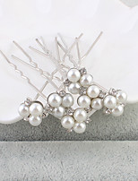 Women's Pearl Headpiece-Wedding / Special Occasion / Casual / Office & Career / Outdoor Hair Pin 6 Pieces