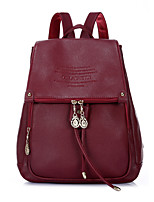 Women Cowhide Casual Backpack Brown / Black / Khaki / Burgundy