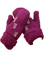 Wool Gloves (Purple Embroidered Gloves)