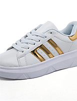 Women's Sneakers Spring / Fall Comfort PU Casual Flat Heel  Pink / Silver / Gold Others