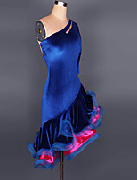 Women's Latin Dance Dresses Performance/Training Milk Fiber 1 Piece