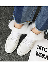 Women's Boots Fall Winter Comfort Leather Casual Flat Heel White