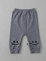 Baby Casual/Daily Solid Pants,Cotton Fall Black / Gray