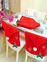 Fashion Santa Clause Cap Red Hat Furniture Chair Back Cover Christmas Dinner Table Party Xmas New Year Decoration