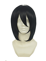 Black Butler Sebastian Mika Cyrus Sanada Genichiro Black Short Straight Halloween Wigs Synthetic Wigs Costume Wigs