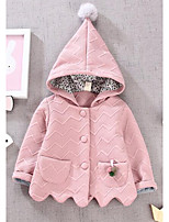 Girl's Casual/Daily Solid Down & Cotton PaddedCotton Winter / Fall Pink