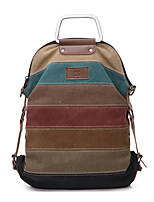 Women Canvas / Polyester Casual / Outdoor Backpack Multi-color