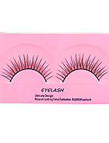 5 Eyelashes lash Full Strip Lashes Eyelash Natural Long Lifted lashes Manual Microfiber Black Band 0.10mm 8mm