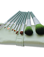 9 Makeup Brushes Set Synthetic Hair Professional / Portable Wood Handle Face/Eye/Lip