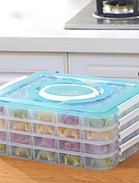 cor aleatória 1pc a protecção do ambiente a preservação alimental refrigerador da caixa de armazenamento de bolinhos