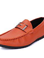 Men's Sneakers Winter Comfort PU Casual Flat Heel Black Blue Orange Others