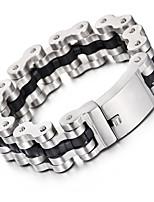 Kalen New Men's Heavy&Chunky Bike Chain Bracelets Cool Biker 316L Stainless Steel&Leather Bicycle Chain Bracelet