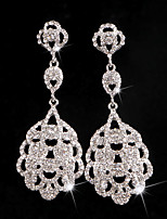 Earring Rhinestone Earrings Set Jewelry Women Wedding / Party Rhinestone / Silver Plated 1 pair Clear
