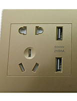 86 Intelligent Charging Socket (Color Gold)