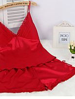 Women Ultra Sexy NightwearSexyMedium Viscose Pink / Red / Gray / Black Women's