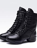Chaussures de danse(Noir / Rouge / Blanc) -Non Personnalisables-Talon Bottier-Cuir-Latine / Jazz / Baskets de Danse / Moderne