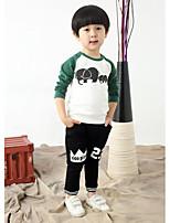 Boy's Casual/Daily Animal Print TeeCotton Spring / Fall Green