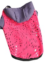 Cat / Dog Hoodie Red / Orange / Rose Dog Clothes Winter / Spring/Fall Color Block Casual/Daily