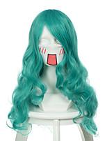 Sailor Moon матрос Neptune смешанный свет синий длинные вьющиеся Хэллоуин парики синтетические парики Карнавальные парики