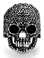 New Retro Punk 316L Stainless Steel Skull Rings Viking Skeleton Men Ring Gothic Rock Jewelry Size 8-11