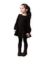 Girl's Casual/Daily Solid Pants / LeggingsCotton / Spandex Winter Black / Blue