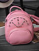 Women PU Casual Backpack Pink / Purple / Gray / Black