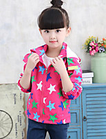 Girl's Casual/Daily Galaxy Suit & BlazerCotton Fall Blue / Red