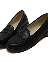 Women's Loafers & Slip-Ons Spring Summer Fall Winter Comfort PU Casual Chunky Heel Split Joint Black Brown Others