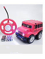 Car Racing 566-3A 110 Brush Electric RC Car / 2.4G Pink Ready-To-Go Remote Control Car