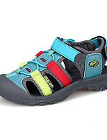 Boy's Sandals Summer Comfort PU Casual Flat Heel Hook & Loop Blue Gray Other