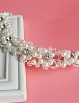 Femme Strass Cristal Imitation de perle Filet Casque-Mariage Occasion spéciale Serre-tête 1 Pièce