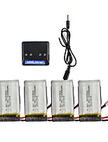 Lipo Battery 3.7V 1200mAh 25C Battery Charger RC Syma x5sw RC Helicopter Battery 4-port Charger for Syma X5SW