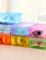 Lucid  Shoe Box Plastic Shoes Storage(Random Colour)