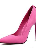 Damen-High Heels-Kleid Lässig-Leder-Stöckelabsatz-Komfort Club-Schuhe Light Up Schuhe-Schwarz Blau Grün Rot Burgund Khaki